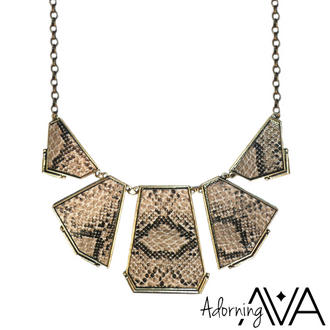 View Item Snake Skin Print Necklace